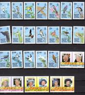 1985-87 Vierges 1985-87, Séries  Entre Yv.508 Et 578**, Cote 164 €, Oiseaux Birds Ucelli - Iles Vièrges Britanniques