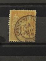 France N°92 Oblitéré Contantinople - 1876-1898 Sage (Type II)