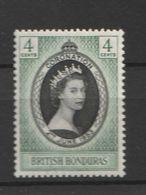 British Honduras 1953 Coronation Of Queen Elizabeth II 1 V. - Stamps
