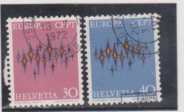 SUISSE   1972  Y.T. N° 899  900  Oblitéré - Svizzera