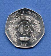 Ouganda  --  10 Shillings  1987  --  Km # 30  -  état  SPL - Uganda