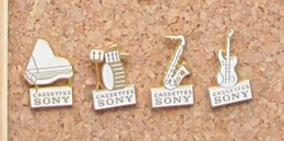 Lot 4 Pin's Musique Instruments Sony - Badges