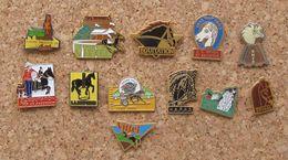 Lot 12 Pin's Sport équitation Cheval - Badges