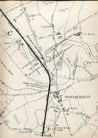 Chemins De Fer De L'Ouest Ligne De Pontaubault à Mortain Plan Général - Europe