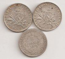 3 PIECES DE 2 F SEMEUSE ET CERES EN ARGENT POUR 12 EUROS - I. 2 Francos