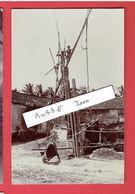 MYANMAR BURMA BIRMANIE VERS 1920 PUITS TRADITIONNEL TRADITIONAL WELL CARTE PHOTO EN TRES BON ETAT - Myanmar (Burma)