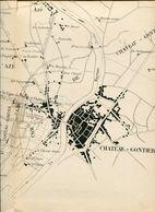 Chemins De Fer De L'Ouest Ligne Sablé à Château-Gontier  Plan Général - Europe