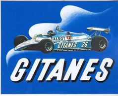 Rare Très Bel Autocollant Gitanes Formule 1 - Objets Publicitaires