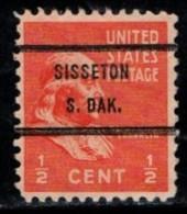"USA Precancel Vorausentwertung Preo, Locals ""SISSTON"" (S. DAK) - Stati Uniti"
