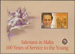 Malta 2004 Salesians In Malta Souvenir Sheet Unmounted Mint. - Malta