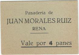 España - Spain Vale Por 4 Panes Rena (Badajoz) Ref 1615 - [ 3] 1936-1975 : Régence De Franco