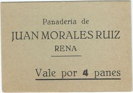 España - Spain Vale Por 4 Panes Rena (Badajoz) Ref 742-2 - [ 3] 1936-1975 : Régimen De Franco