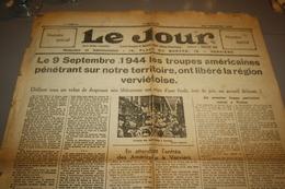Journal Le Jour Numero Special 1 Feuille 1944 Liberation De Verviers - Sonstige
