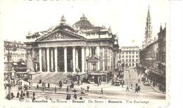 Bruxelles - CPA - Brussel - La Bourse - Lanen, Boulevards