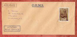 Luftpost, EF Weihnachten Rembrandt, Post Office Aitutaki Nach Mangere Neuseeland 1982 (49429) - Aitutaki