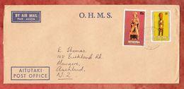 Luftpost, MiF Weihnachten U.a., Post Office Aitutaki Nach Mangere Neuseeland 1980 (49431) - Aitutaki