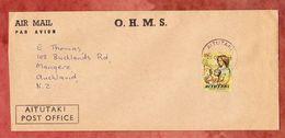 Luftpost, EF Weihnachten, Aitutaki Cook Island Nach Mangere Neuseeland 1977 (49432) - Aitutaki