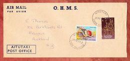 Luftpost, MiF Muschel U.a., Aitutaki Cook Islands Nach Mangere Neuseeland 1977 (49434) - Aitutaki