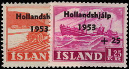 Iceland 1953 Netherlands Flood Relief Lightly Mounted Mint. - Unused Stamps