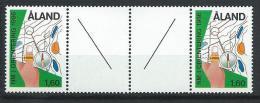 Aland 1986 N°15 Neuf Gutter Pair Course D'orientation - Aland