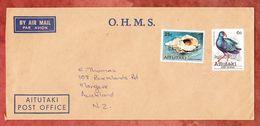 Luftpost, MiF Muschel U.a., Post Office Aitutaki Nach Mangere Neuseeland 1981 (49436) - Aitutaki