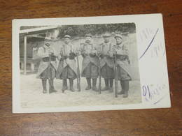 CARTE PHOTO DE 4 SOLDATS DU 46 E D'INFANTERIE - War 1914-18