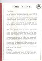 BELGISCHE PREO'S - STUDIE 17 BLADZIJDEN - - Magazines: Subscriptions