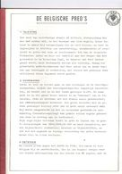 BELGISCHE PREO'S - STUDIE 17 BLADZIJDEN - - Riviste: Abbonamenti