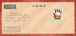 Luftpost, EF Albert Einstein, Post Office Aitutaki Nach Mangere Neuseeland 1980 (49439) - Aitutaki
