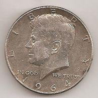 USA  DEMI DOLLAR KENNEDY 1964 EN ARGENT - Federal Issues