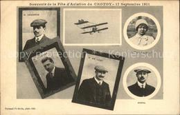 31743458 Flugzeuge Zivil Souvenir De La Fete D'Aviation Du Crotoy 1911 Piloten C - Aviazione