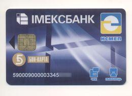 Credit Card UKRAINE Bankcard Imex Bank Exp To 2006 - Geldkarten (Ablauf Min. 10 Jahre)