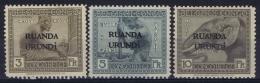 Ruanda-Urundi : OBP 59 - 61  Postfrisch/neuf Sans Charniere /MNH/** - 1916-22: Mint/hinged