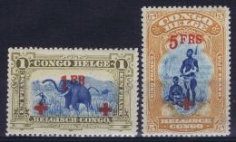 Belgian Congo: OBP 78 + 79  Postfrisch/neuf Sans Charniere /MNH/**  1886  Signed/ Signé/signiert - Congo Belge