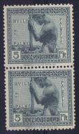Belgian Congo: OBP 116 Pair Postfrisch/neuf Sans Charniere /MNH/**  1923 Second Stamp Small Thin Spot - 1894-1923 Mols: Neufs