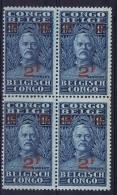 Belgian Congo: OBP 165 4-block Postfrisch/neuf Sans Charniere /MNH/**  1931 - 1923-44: Neufs