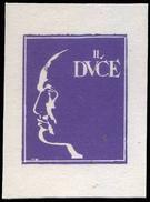 DVX - Benito Mussolini - Erinnofilo (chiudilettera) E - Erinnofilia
