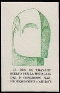 ITALIA - Erinnofilo - MUSSOLINI - DUX Di Thayaht - Verde (FUTURISMO) - Erinnofilia