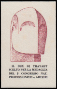 ITALIA - Erinnofilo - MUSSOLINI - DUX Di Thayaht - Rosso Bruno (FUTURISMO) - Erinnofilia