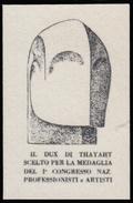 ITALIA - Erinnofilo - MUSSOLINI - DUX Di Thayaht - Ardesia (FUTURISMO) - Erinnofilia