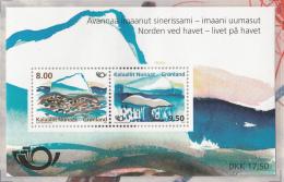 Greenland MNH 2012 Scott #615a Souvenir Sheet Of 2 Iceberg, Whale Tail - Buuti Pedersen - Coastline Scenery - Groenland