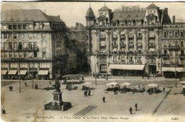 CAP (Strasbourg) Postcard,  Strasbourg La Place Kleber Et Le Palace Hotel Maison Rouge , 189 - Strasbourg