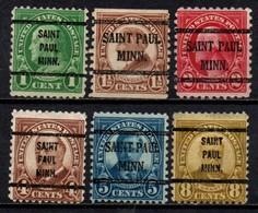 "USA Precancel Vorausentwertung Preo, Locals ""St PAUL"" (MINN). 6 Différents. - United States"