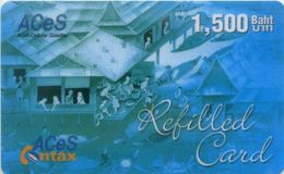 Mobilecard Thailand  - ACeS - Werbung  - Tradition - 1500 Baht - Thaïland