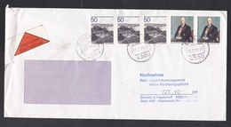 Germany: Cover, 1983, 5 Stamps, Payment On Delivery, Nachnahme Label (minor Damage, See Scan) - Brieven En Documenten