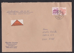 Germany: Cover, 1985, 2 Stamps, Payment On Delivery, Nachnahme Label (minor Damage, See Scan) - Brieven En Documenten