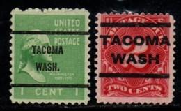 """USA Precancel Vorausentwertung Preo, Locals """"TACOMA"""" (WASH). 2 Différents. - Preobliterati"""