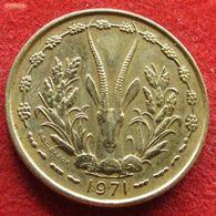 West African States 25 Francs 1971 KM# 5 Africa Ocidental Oeste Afrika Afrique - Monnaies