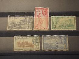 BARBADOS - 1950 PITTORICA 1-2-3-4-6 C. - NUOVI(++) - Barbados (...-1966)