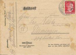 LETTRE Fine FELDPOFT -1945- POSTE Aux ARMEES ALLEMANDE-BE - Allemagne
